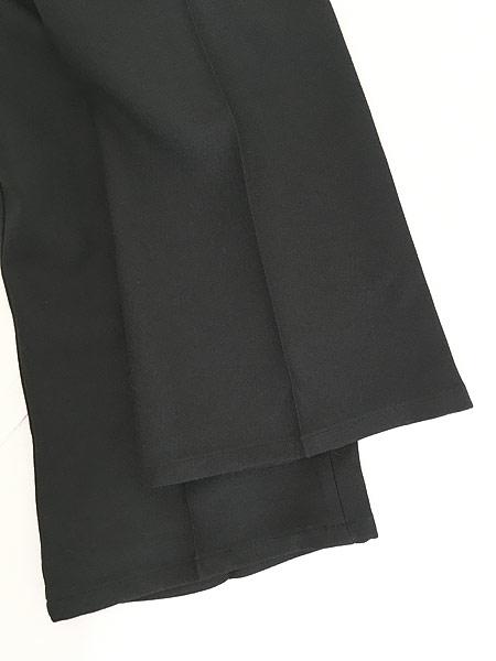 [5] 古着 70s USA製 Lee 201-0801 ブラック スラックス パンツ ブーツカット 黒 W31 L30 古着
