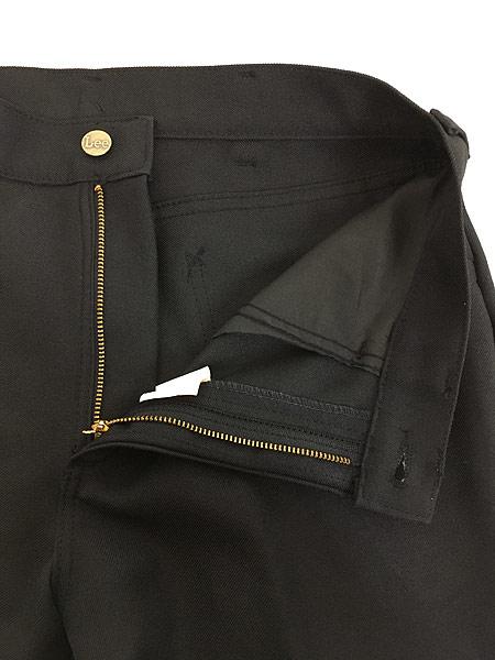 [6] 古着 70s USA製 Lee 201-0801 ブラック スラックス パンツ ブーツカット 黒 W31 L30 古着
