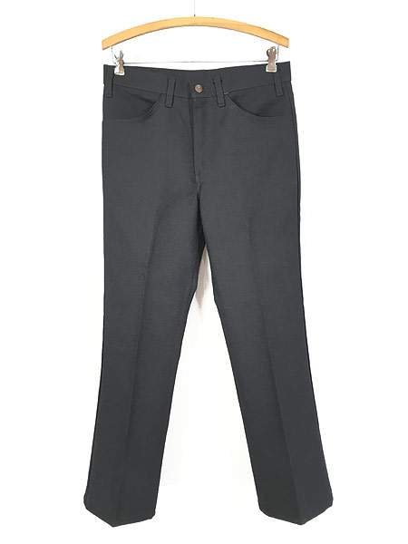 [1] 古着 80s Levi's 517 ブラック スラックス パンツ ブーツカット 黒 W32 L30 古着