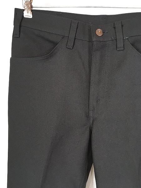 [2] 古着 80s Levi's 517 ブラック スラックス パンツ ブーツカット 黒 W32 L30 古着
