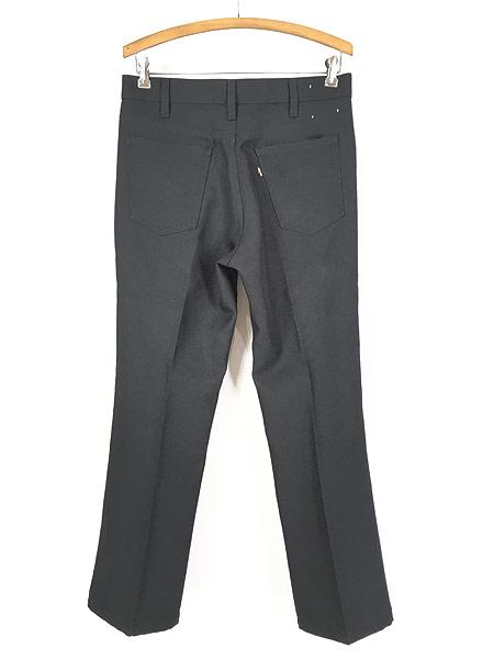 [3] 古着 80s Levi's 517 ブラック スラックス パンツ ブーツカット 黒 W32 L30 古着