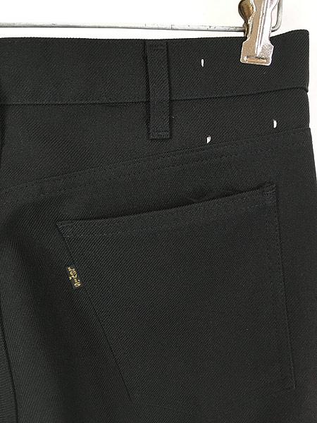 [4] 古着 80s Levi's 517 ブラック スラックス パンツ ブーツカット 黒 W32 L30 古着