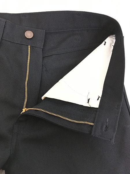 [6] 古着 80s Levi's 517 ブラック スラックス パンツ ブーツカット 黒 W32 L30 古着