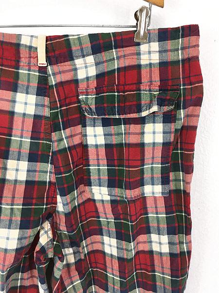 [4] 古着 90s Abercronbie&Fitch カラフル チェック イージー パンツ L ブランド 古着