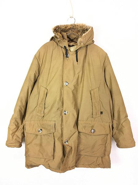 [1] 古着 70s WoolRich 人気 アークティック パーカー 60/40クロス ダウン ジャケット XL 古着