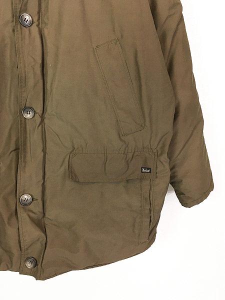 [3] 古着 90s USA製 WoolRich 襟コーデュロイ 60/40 クロス ダウン コート L 古着