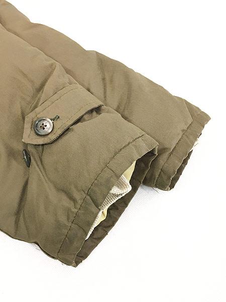 [5] 古着 90s USA製 WoolRich 襟コーデュロイ 60/40 クロス ダウン コート L 古着