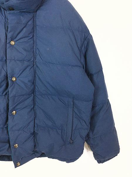 [3] 古着 80s USA製 WoolRich 軽量 ナイロン シェル ダウン ジャケット M 古着