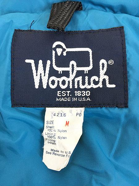 [8] 古着 80s USA製 WoolRich 軽量 ナイロン シェル ダウン ジャケット M 古着