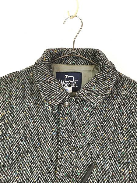 [2] 古着 80s USA製 WoolRich ヘリンボーン カラフル ネップ ウール ジャケット ブルゾン M 古着