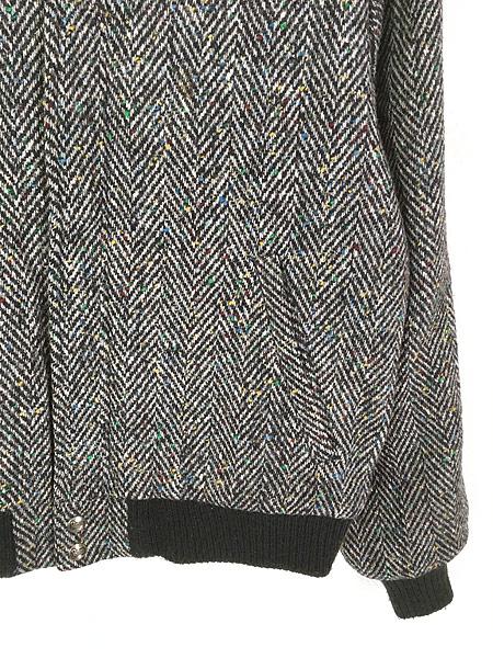 [3] 古着 80s USA製 WoolRich ヘリンボーン カラフル ネップ ウール ジャケット ブルゾン M 古着