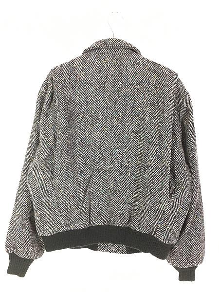 [4] 古着 80s USA製 WoolRich ヘリンボーン カラフル ネップ ウール ジャケット ブルゾン M 古着