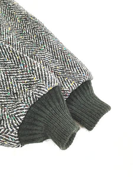 [5] 古着 80s USA製 WoolRich ヘリンボーン カラフル ネップ ウール ジャケット ブルゾン M 古着