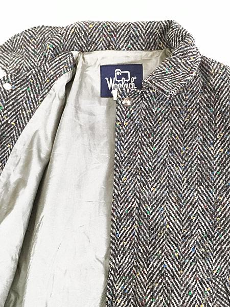 [6] 古着 80s USA製 WoolRich ヘリンボーン カラフル ネップ ウール ジャケット ブルゾン M 古着