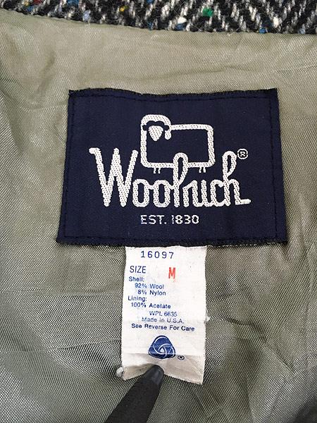[8] 古着 80s USA製 WoolRich ヘリンボーン カラフル ネップ ウール ジャケット ブルゾン M 古着