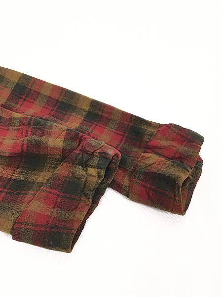 [6] 古着 60s Pendleton 好配色 チェック ショール カラー ウール ガウン コート 羽織 M 古着