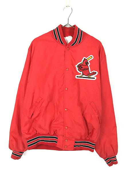 [1] 古着 80s MLB St. Louis Cardinals カーディナルス ナイロン スタジャン ジャケット M位 古着