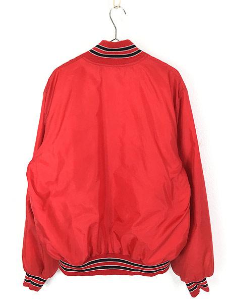 [4] 古着 80s MLB St. Louis Cardinals カーディナルス ナイロン スタジャン ジャケット M位 古着