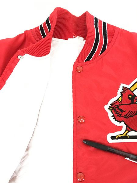[6] 古着 80s MLB St. Louis Cardinals カーディナルス ナイロン スタジャン ジャケット M位 古着