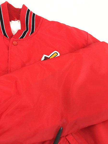 [8] 古着 80s MLB St. Louis Cardinals カーディナルス ナイロン スタジャン ジャケット M位 古着
