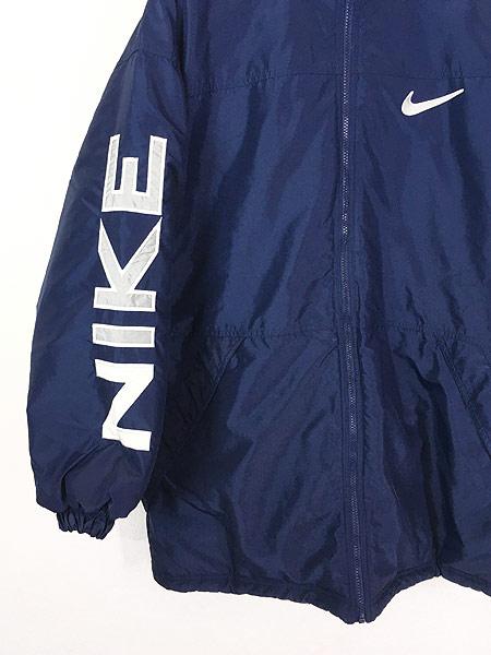 [2] 古着 90s NIKE BIG スウォッシュ デザイン リバーシブル パデット ジャケット M 古着