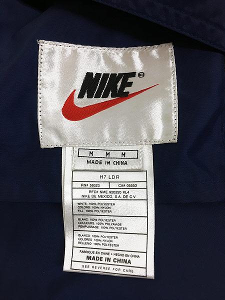 [9] 古着 90s NIKE BIG スウォッシュ デザイン リバーシブル パデット ジャケット M 古着