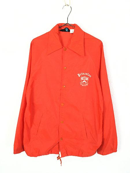 [1] 古着 70s Champion ランタグ 「Princeton」 カレッジ ナイロン コーチ ジャケット S 古着