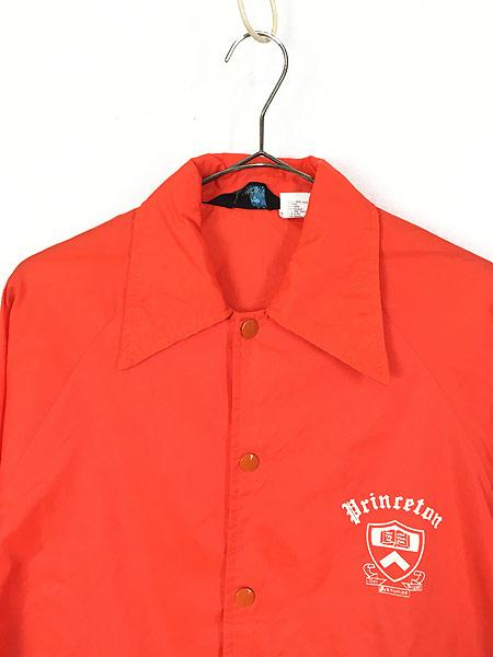[2] 古着 70s Champion ランタグ 「Princeton」 カレッジ ナイロン コーチ ジャケット S 古着