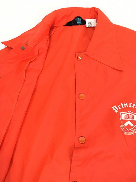 [6] 古着 70s Champion ランタグ 「Princeton」 カレッジ ナイロン コーチ ジャケット S 古着