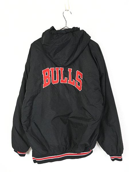 [3] 古着 90s STARTER製 NBA CHICAGO BULLS 撥水 パデット フーディー ジャケット L 古着