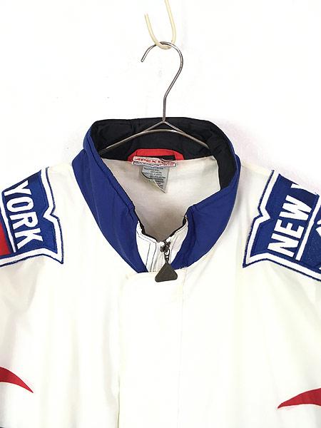 [2] 古着 90s NHL NY New York GIANTS ジャイアンツ ナイロン ジャケット XL 古着