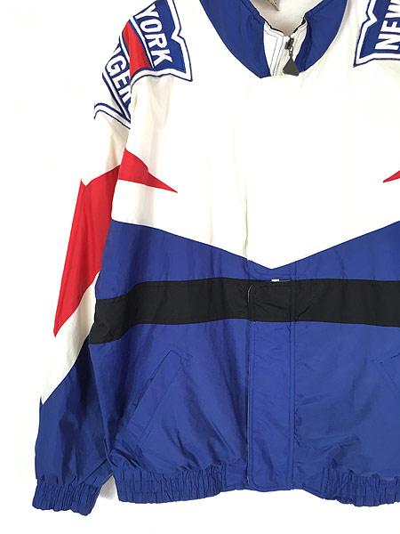 [3] 古着 90s NHL NY New York GIANTS ジャイアンツ ナイロン ジャケット XL 古着