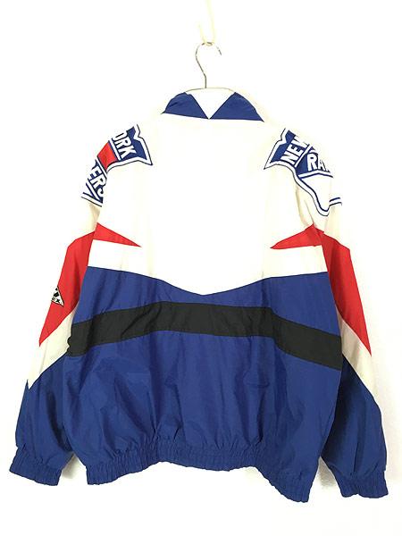 [4] 古着 90s NHL NY New York GIANTS ジャイアンツ ナイロン ジャケット XL 古着