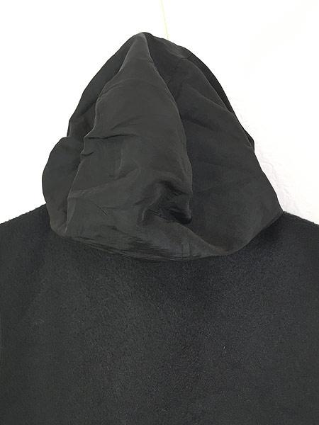 [6] 古着 90s VITTADINI 軽量 ブラック フリース スタンドカラー ベスト オールブラック S 古着