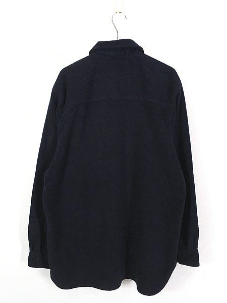 [3] 古着 90s DKNY Techsystem 3Dロゴ ヘビー フリース シャツ ジャケット L 古着