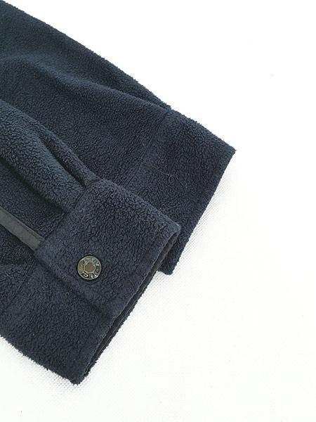 [4] 古着 90s DKNY Techsystem 3Dロゴ ヘビー フリース シャツ ジャケット L 古着