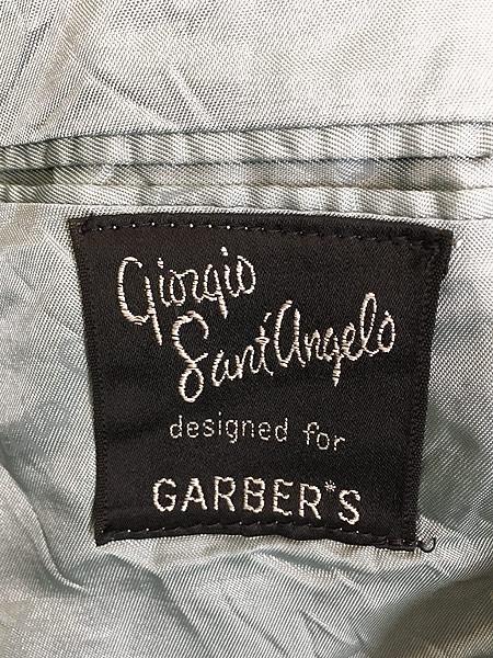[9] 古着 80s Giorgio Sant'Angelo 光沢 ネイビー ベルベット ベロア テーラード ジャケット 40位 古着
