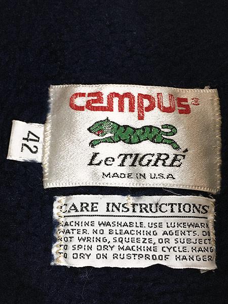 [9] 古着 70-80s USA製 Campus Le Tigre パイル ライナー ダービー バーシティ ジャケット 42 古着
