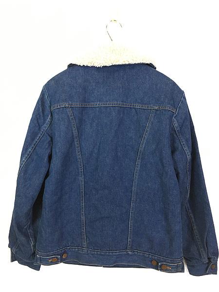 [5] 古着 70s USA製 Wrangler 「Wrange Coat」 濃紺 デニム ボア ランチ ジャケット M 古着
