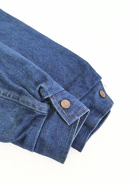 [6] 古着 70s USA製 Wrangler 「Wrange Coat」 濃紺 デニム ボア ランチ ジャケット M 古着