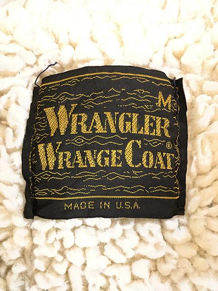 [9] 古着 70s USA製 Wrangler 「Wrange Coat」 濃紺 デニム ボア ランチ ジャケット M 古着