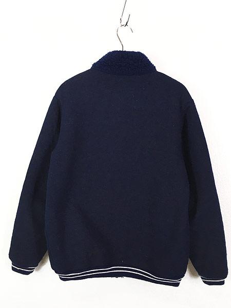 [4] 古着 80s Scotland製 リブライン ジップアップ パイル ジャケット M 古着