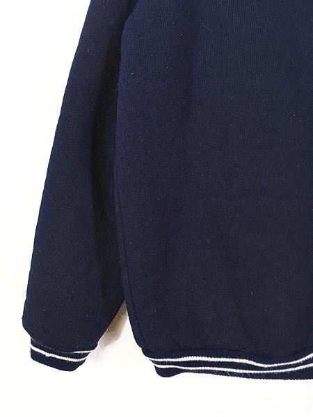 [5] 古着 80s Scotland製 リブライン ジップアップ パイル ジャケット M 古着