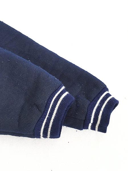 [6] 古着 80s Scotland製 リブライン ジップアップ パイル ジャケット M 古着