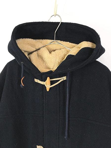 [2] 古着 90s Abercrombie&Fitch 防寒 パデット & ボア ライナー ウール ダッフル コート L 古着