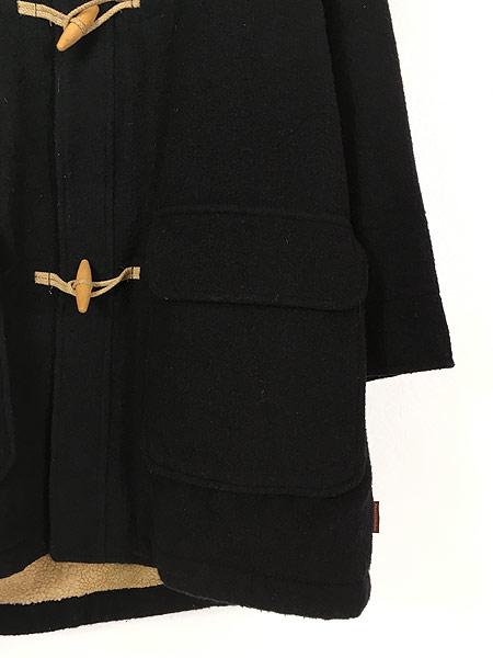 [3] 古着 90s Abercrombie&Fitch 防寒 パデット & ボア ライナー ウール ダッフル コート L 古着