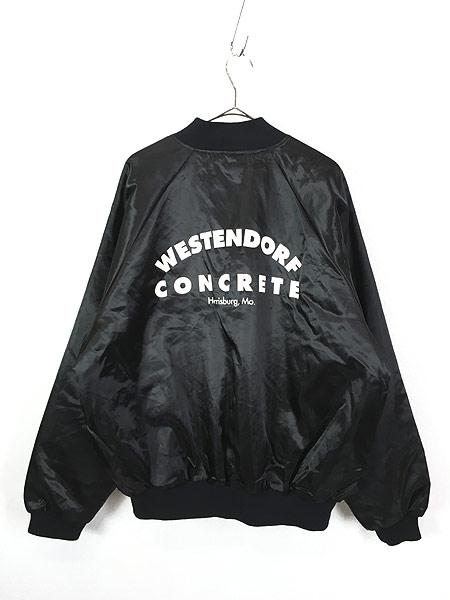 [3] 古着 80s USA製 「WESTENDORF CONCRETE」 パデット 光沢 サテン スタジャン ジャケット XXL 古着