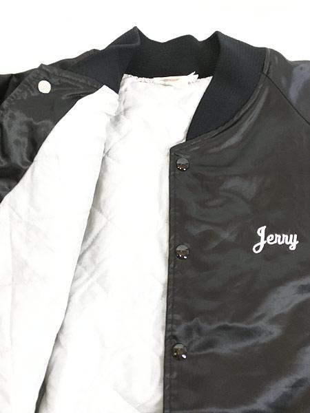 [5] 古着 80s USA製 「WESTENDORF CONCRETE」 パデット 光沢 サテン スタジャン ジャケット XXL 古着