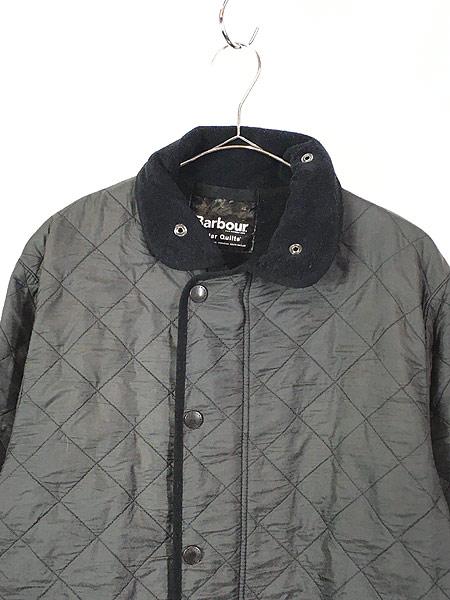 [2] 古着 Barbour 「Polar Quilts」 フリース ライナー ポーラーキルト ジャケット ロング丈 L ブランド 古着