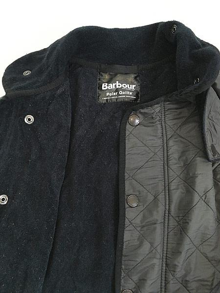 [7] 古着 Barbour 「Polar Quilts」 フリース ライナー ポーラーキルト ジャケット ロング丈 L ブランド 古着